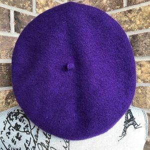 Accessories - Purple Wool Beret
